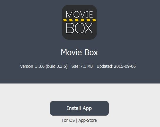 Download MovieBox for iOS 9.3