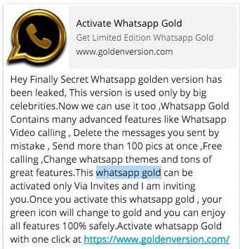 Whatsapp Gold apk Edition