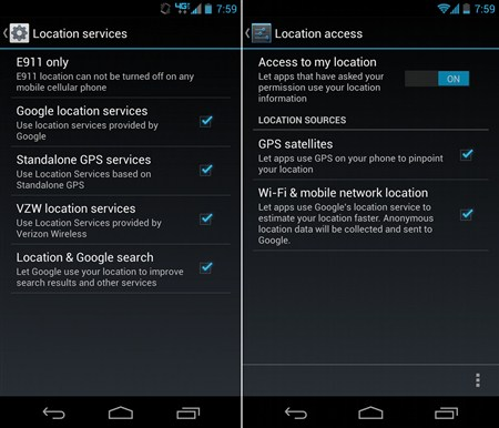 Android GPS to secure android smartphone image