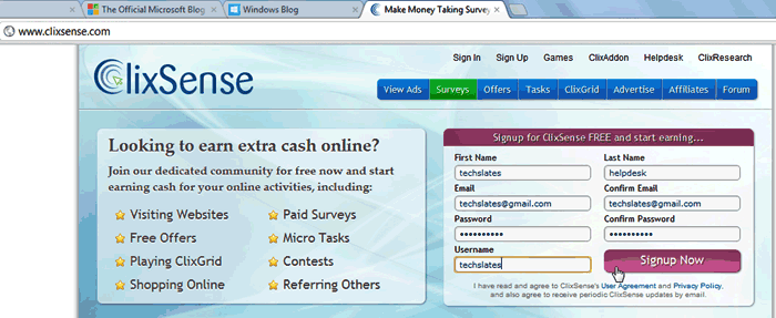 Make-Money-online-without-investment-through-clixsense-website-image